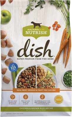 Rachael Ray Nutrish Dish Natural Chicken & Brown Rice Recipe with Veggies & Fruit Dry Dog Food