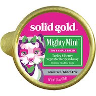 Solid Gold Mighty Mini Turkey & Hearty Vegetable Recipe in Gravy Grain-Free Small Breed Dog Food Cups, 3.5-oz cup, case of 12