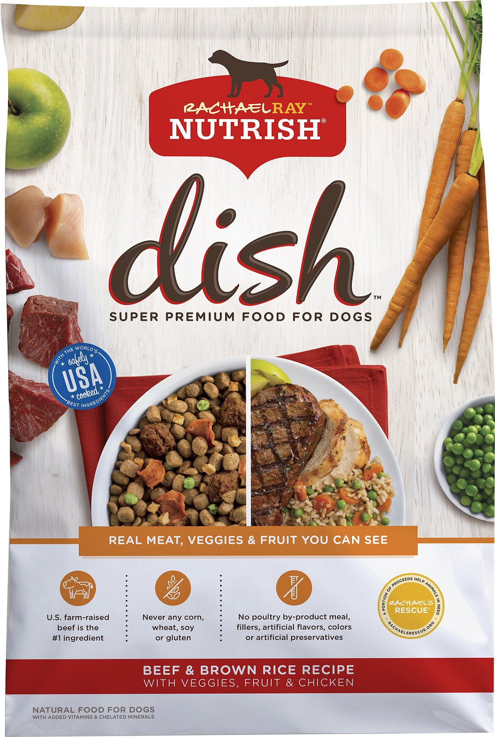 rachael ray nutrish dish natural beef brown rice recipe with