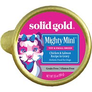 Solid Gold Mighty Mini Chicken, Salmon & Vegetable Recipe in Gravy Grain-Free Small & Medium Breed Dog Food Cups