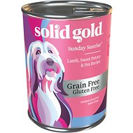 Solid Gold Sunday Sunrise Lamb, Sweet Potato & Pea Recipe Grain-Free Canned Dog Food, 13-oz can, case of 12