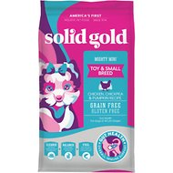 Solid Gold Mighty Mini Toy & Small Breed Gut Health Chicken, Chickpea & Pumpkin Grain-Free Dry Dog Food, 4-lb bag