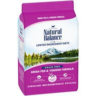 Natural Balance L.I.D. Limited Ingredient Diets Green Pea & Venison Grain-Free Dry Cat Food, 8-lb bag