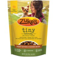 Zuke's Tiny Naturals Peanut Butter & Flaxseed Recipe Dog Treats, 5-oz bag