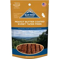 Blue Ridge Naturals Peanut Butter Coated Sweet Tater Fries Dog Treats, 5-oz bag