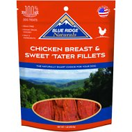 Blue Ridge Naturals Chicken Breast & Sweet Tater Fillets Dog Treats, 1-lb bag