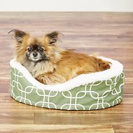 MidWest Quiet Time E' Sensuals Teflon Geometric Orthopedic Nesting Pet Bed, Green, 20-inch