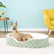 MidWest QuietTime Defender Teflon Geometric Orthopedic Nesting Pet Bed, Green, 43-in