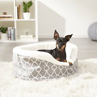 MidWest Quiet Time E' Sensuals Teflon Geometric Orthopedic Nesting Pet Bed, Gray, 22-inch