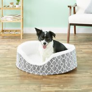 MidWest Quiet Time E' Sensuals Teflon Geometric Orthopedic Nesting Pet Bed, Gray, 28-inch