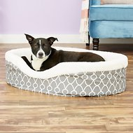MidWest QuietTime Defender Teflon Geometric Orthopedic Nesting Pet Bed, Gray, 35-in