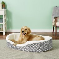 MidWest QuietTime Defender Teflon Geometric Orthopedic Nesting Pet Bed, Gray, 41-in
