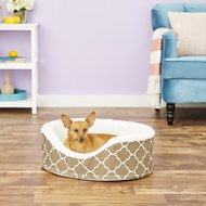 MidWest QuietTime Defender Teflon Geometric Orthopedic Nesting Pet Bed, Brown, 22-in