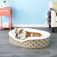 MidWest QuietTime Defender Teflon Geometric Orthopedic Nesting Pet Bed, Brown, 36-in