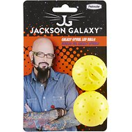 Jackson Galaxy Spiral Galaxy LED Balls Cat Toy, Yellow