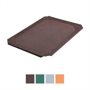 Frisco Replacement Cover for Steel-Framed Elevated Dog Bed, Brown, Small; Frisco Replacement Cover for Steel-Framed Elevated Dog Bed is made to perfectly fit Frisco Steel-Framed Elevated Dog Bed—a comfortable, durable bed that elevates your four-legged family member off the ground for ultimate comfort, whether indoors or outside. This replacement cover features breathable fabric that provides an added level of comfort and support while keeping your dog cool and happy. It's easy to wash, and the PVC coating ensures it won\\\'t sag after extended use, for years of blissful napping.