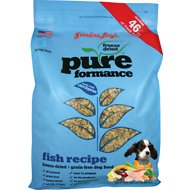 Grandma Lucy's Pureformance Grain-Free Fish Recipe Freeze-Dried Dog Food, 10-lb bag