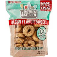 Howl's Kitchen Bacon Flavor Bagels Dog Treats, 30 count