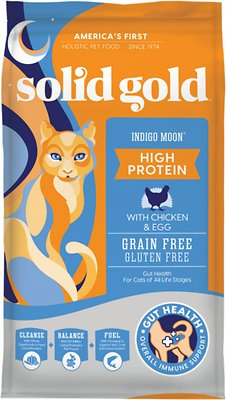 4. Solid Gold Indigo Moon with Chicken & Eggs Dry Cat Food