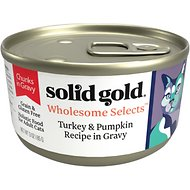 Solid Gold Wholesome Selects with Real Turkey & Pumpkin Recipe in Gravy Grain-Free Canned Cat Food