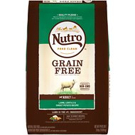 Nutro Grain-Free Adult Pasture Fed Lamb, Lentils & Sweet Potato Recipe Dry Dog Food, 24-lb bag