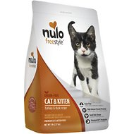 Nulo FreeStyle Grain-Free Turkey & Duck Recipe Cat & Kitten Dry Cat Food, 5-lb bag