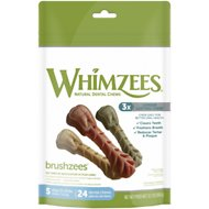 WHIMZEES Toothbrush Dental Dog Treats, Small, 24 count
