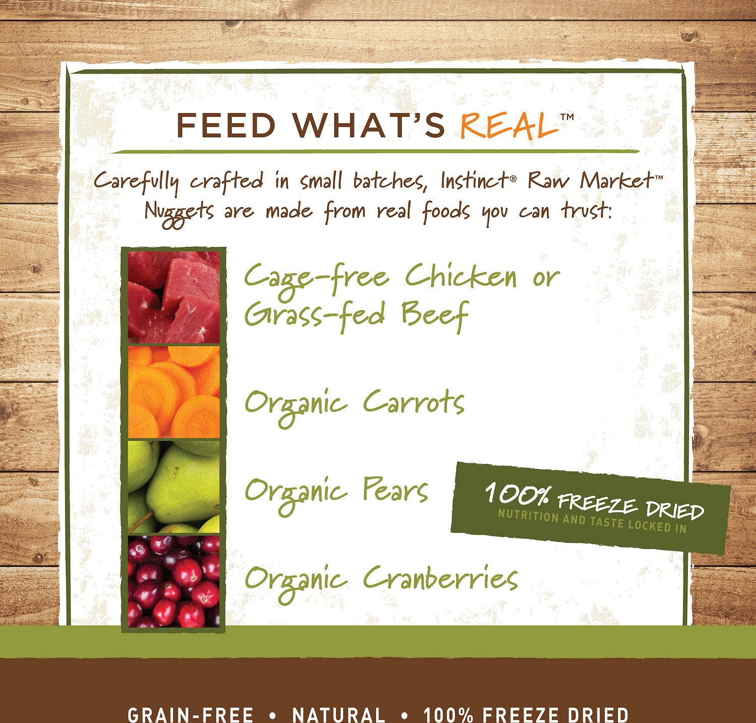 instinct by variety raw market grainfree chicken recipe nuggets freezedried cat food - Can You Freeze Pears