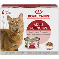 Royal Canin Feline Health Nutrition Adult Instinctive Thin Slices in Gravy Canned Cat Food, 3-oz, pack of 6