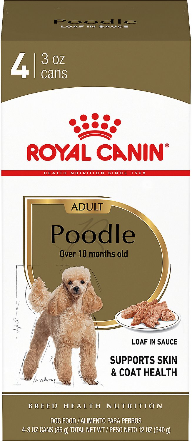 Royal Canin Toy Miniature Poodle Adult Loaf In Sauce Canned Dog Food 3 Oz Pack Of 4 Chewy Com