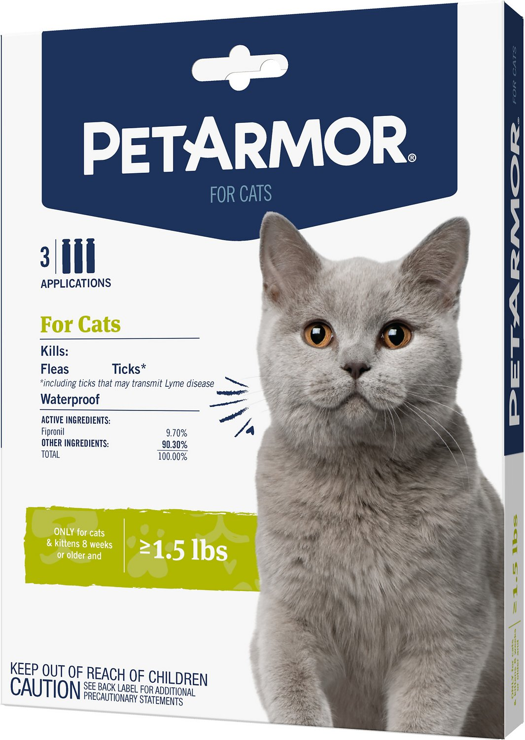 Petarmor Flea Tick Squeeze On Treatment For Cats Kittens Over 1 5 Lbs 3 Count Chewy Com
