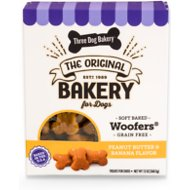 Three Dog Bakery Woofers Peanut Butter & Banana Flavor Grain-Free Dog Treats, 13-oz box