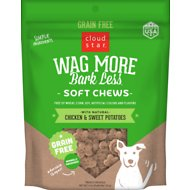 Cloud Star Wag More Bark Less Soft Chews with Chicken & Sweet Potato Grain-Free Dog Treats