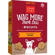 Cloud Star Wag More Bark Less Grain-Free Oven Baked with Pumpkin Dog Treats
