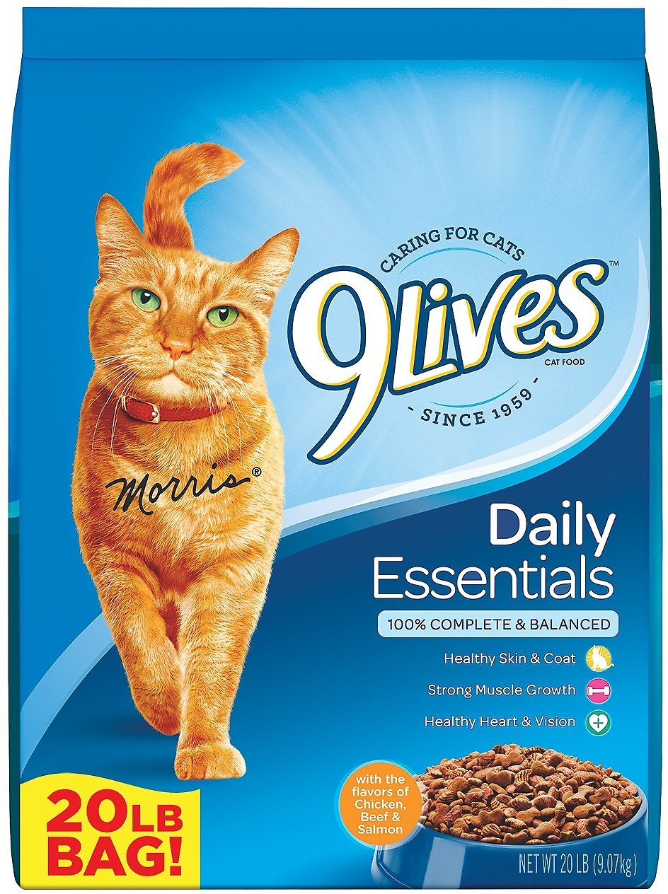 9 Lives Daily Essentials With Chicken Beef Salmon Flavor Dry Cat Food